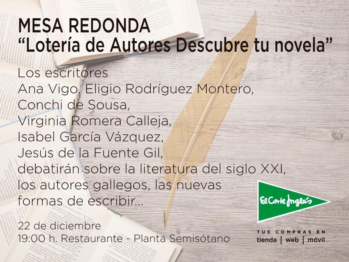 Lotería de Autores Novela El Corte Ingles Coruña