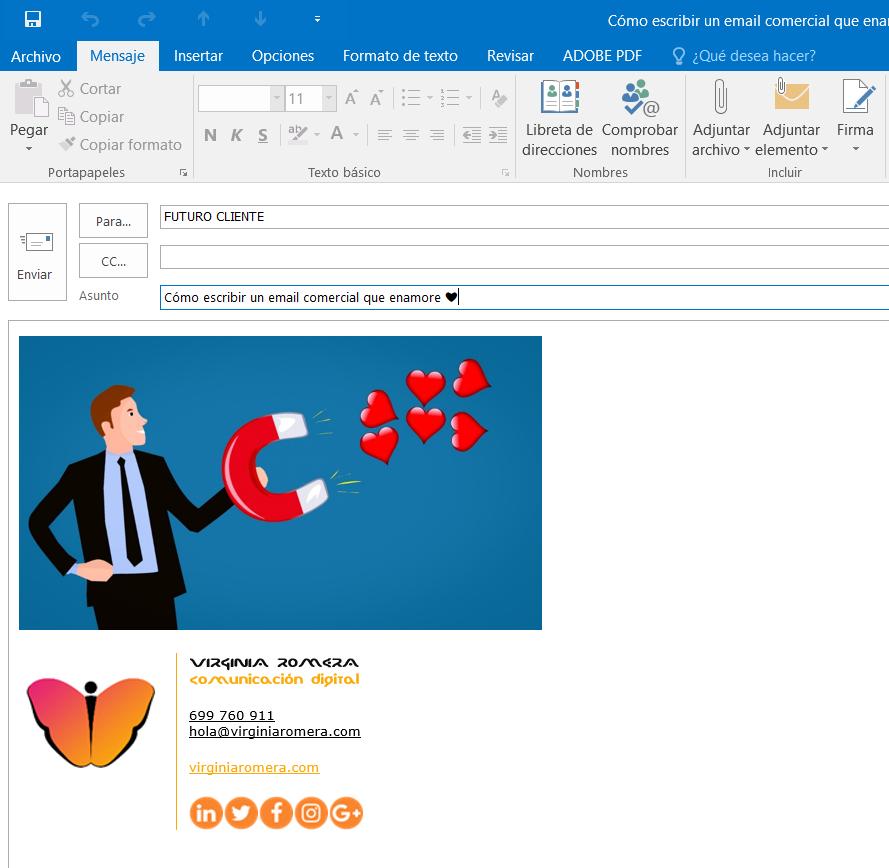 Escribir un email comercial atractivo